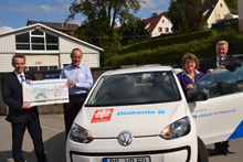 VW up geht an Caritas Biberach / Bad Saulgau