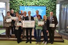 Spendenübergabe der Volksbank-Stiftung Ulm-Biberach