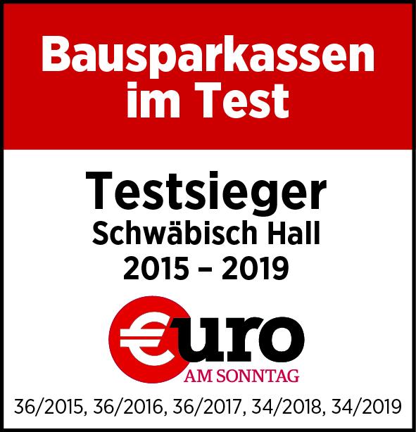 Bausparkasse Schwäbisch Hall: Testsieger 2015 - 2017 bei Euro am Sonntag